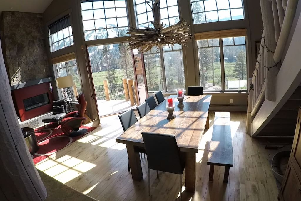 Great Room with view of ski mountain.