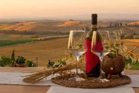 "Apartamento ""Red Rose"" con vistas a Siena."