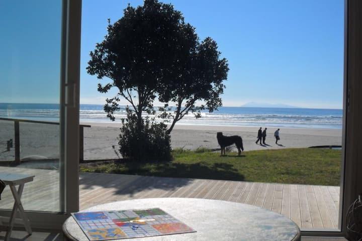 Sunny, spacious beach front Bach. Sleeps 12+