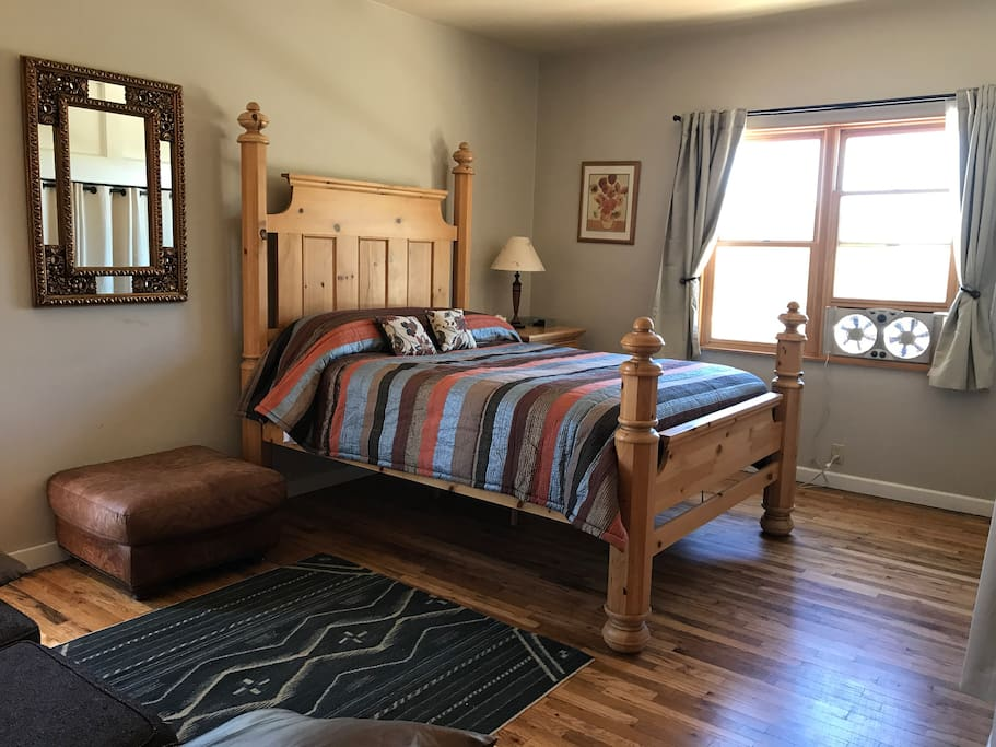 Master Bedroom with Private door out into A large deck outside.