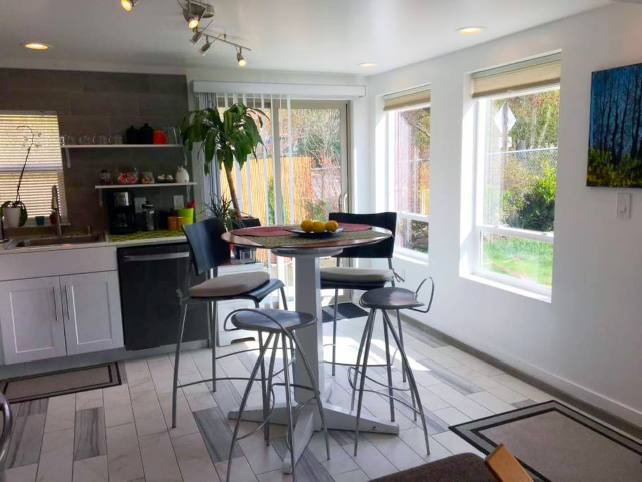 Large, South facing windows flood the kitchen with natural light throughout the day.