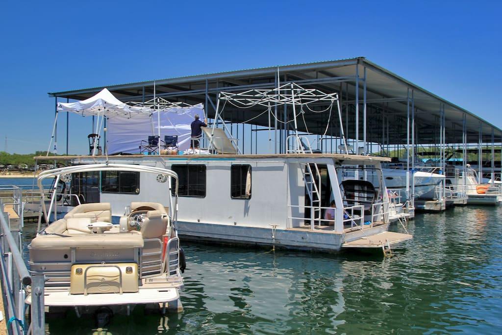 Docked in Paradise Cove Marina