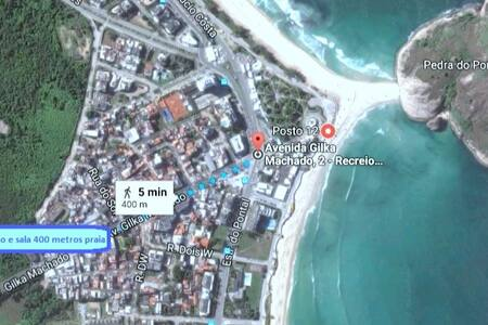 Recreio 400m Praia. Scuba House Av. Gilka Machado.