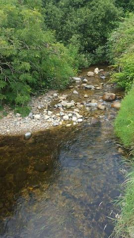 River running through the garden.!!
