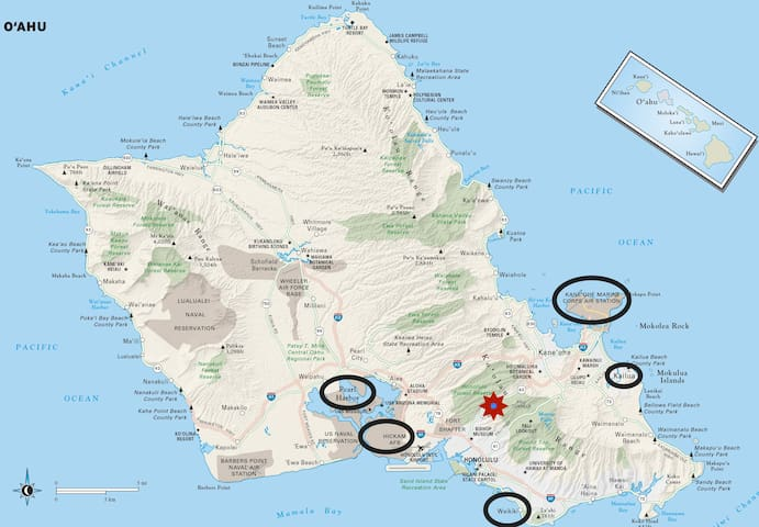 We're located centrally on Likelike Highway, so you can easily get to either side of Oahu quickly!
