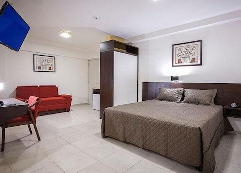 Flat requintado em Apart Hotel