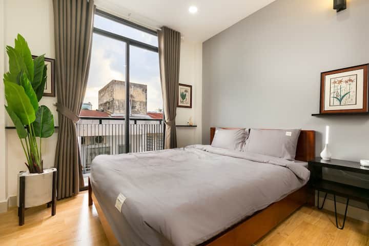 [G9Homestay]NewStudioInCentralD.1/Kitchen&Balcony