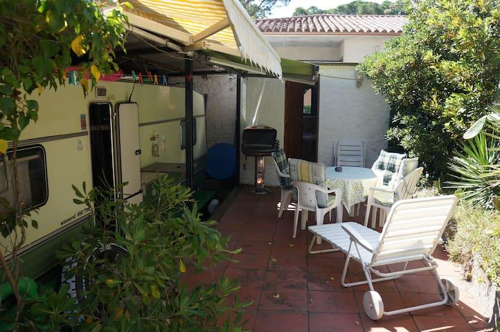 Wohnwagen mit separatem Bad, Garten, Internet,tv