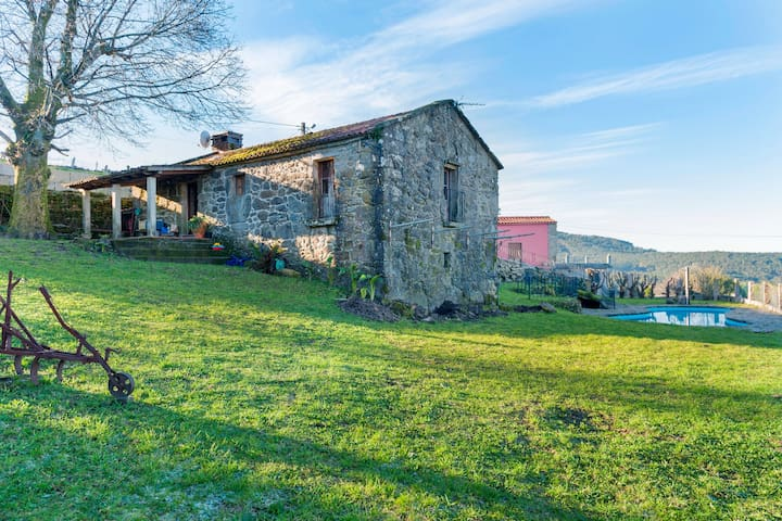 Heritage Mansion in Covelo, Pontevedra with Swimming Pool