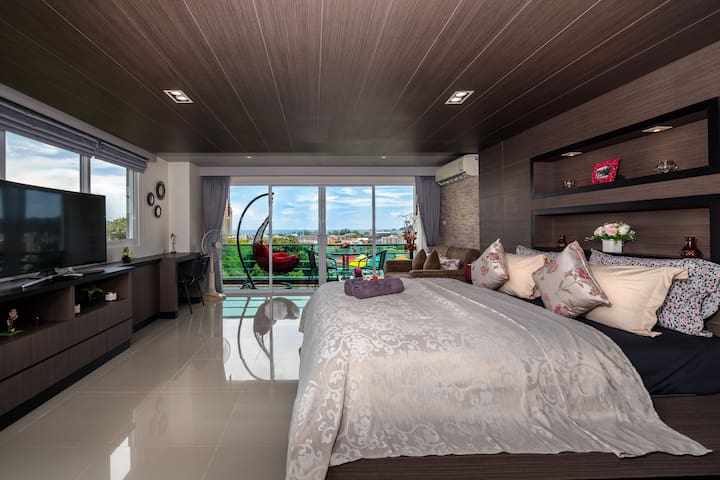 Seaview Well Designed Apartment @Patong, 50 sq.m.