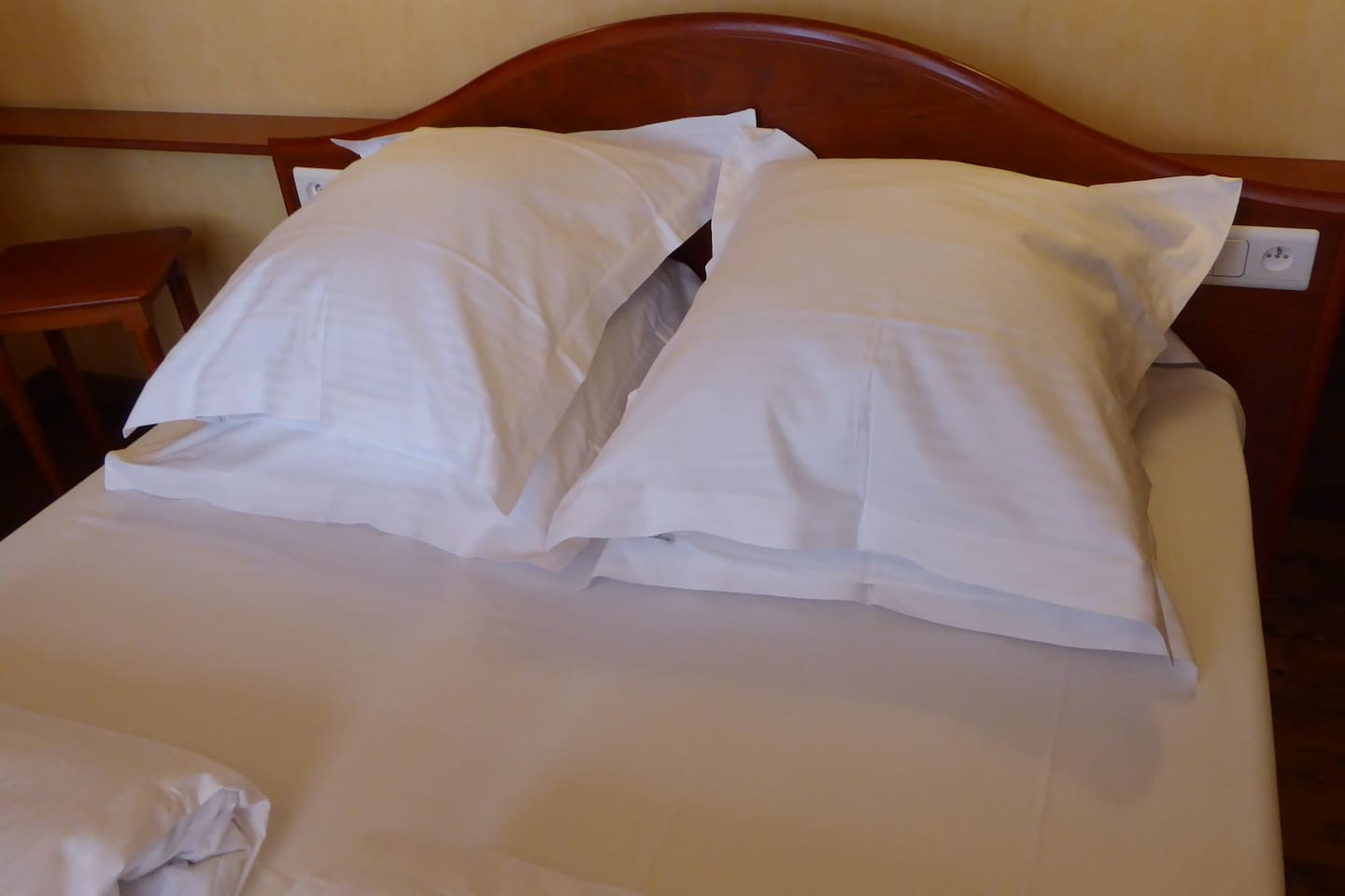 Comfortable real bed (french double).