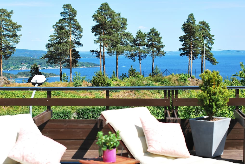 Awesome view from the terrace over Oslofjord