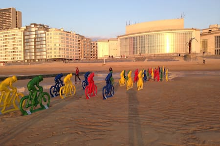 bright duplex, loungy terrace, P free - Oostende - 公寓
