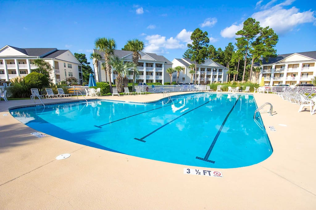 When you prefer to stay sand free, relax at the huge community pool.
