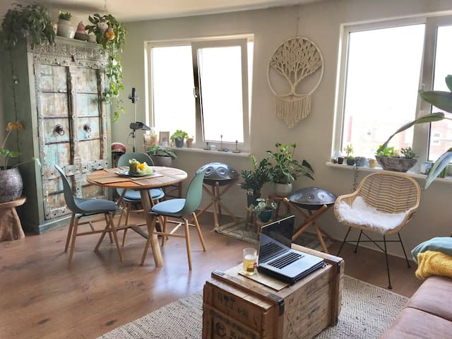 Cosy Bohemian  apartment with a view at Slotermeer
