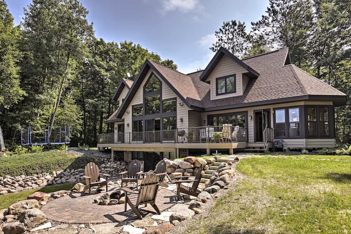 Lakefront Hayward Home w/ Fire Pit by Ski Trails!
