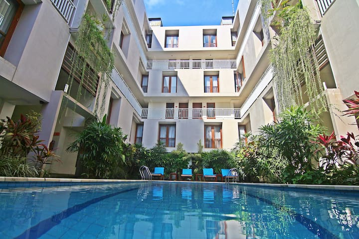 Deluxe 1 Bdr Residence for 4 Adult #Kuta