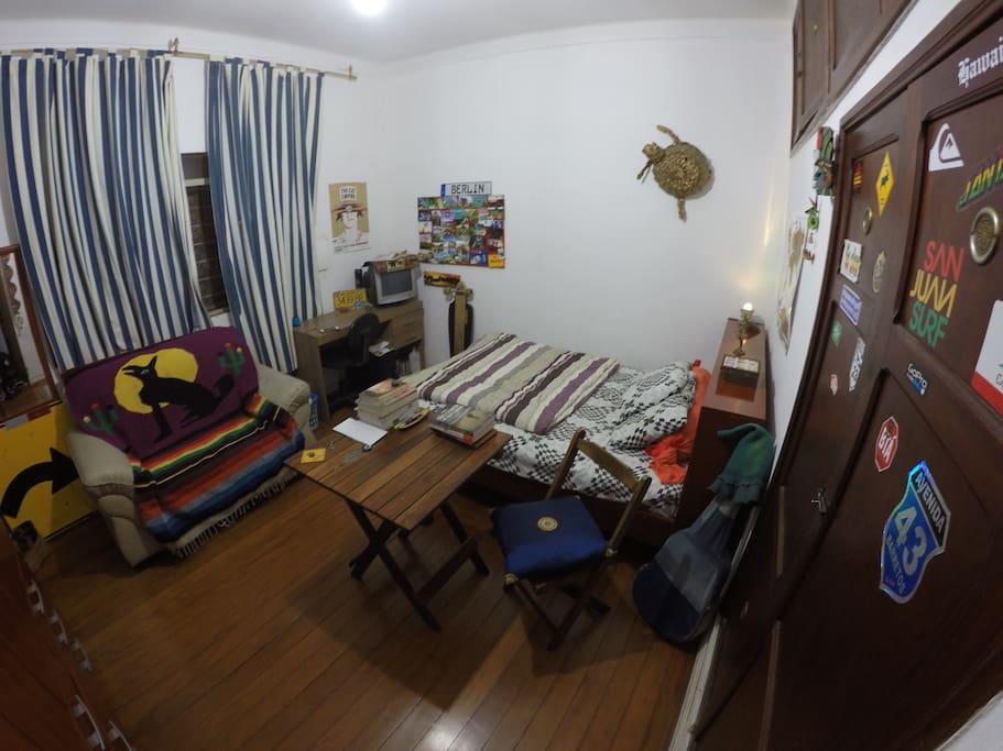The cozy room!