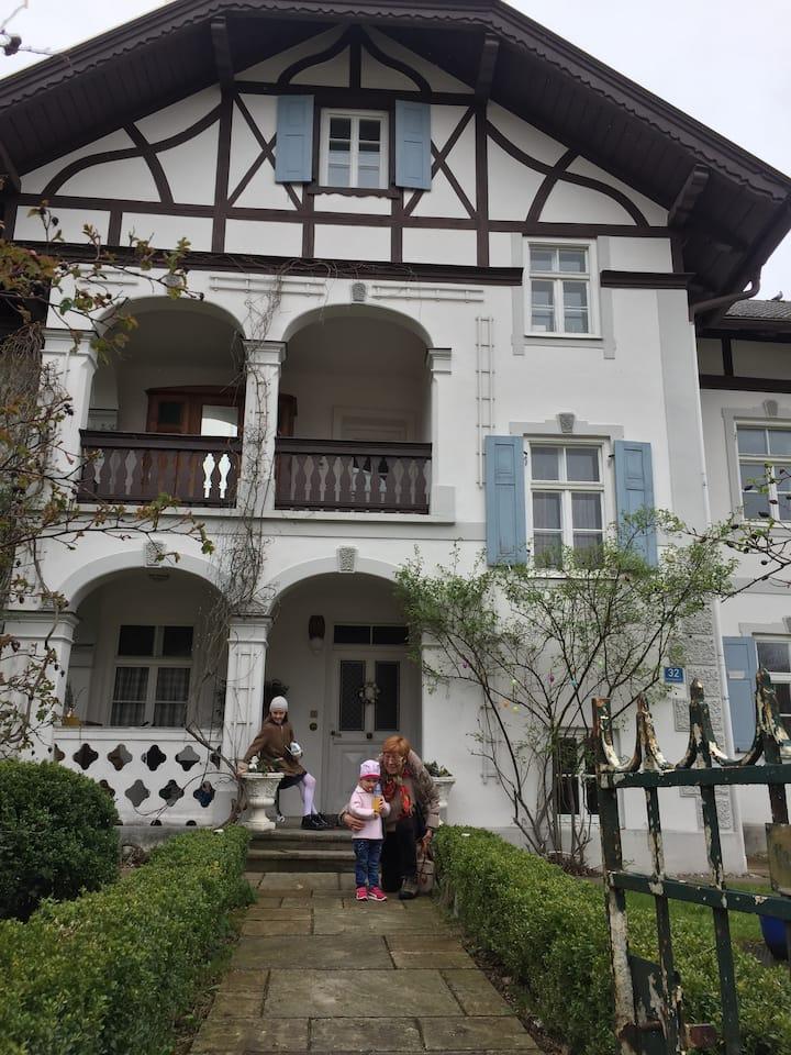 Art Noveau villa in the Alps