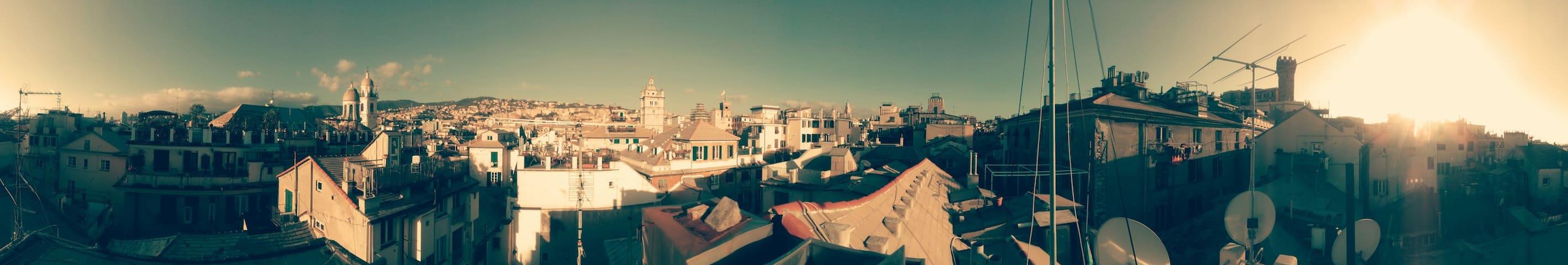 Il tetto tra le torri - Gênes - Loft