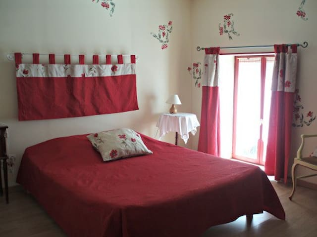 Chambre Coquelicot - Le petit Dennevy - Dennevy - Guesthouse