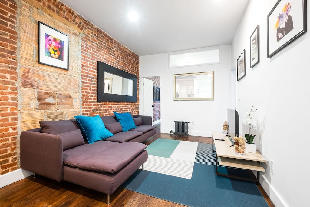 Newly decorated living apartment
