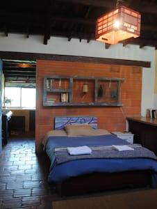 La Ruana Guatavita  Double room + private kitchen - Daire