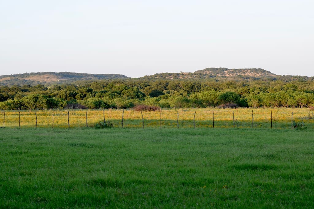 Hill Country view from Deep in the Heart Apartment.