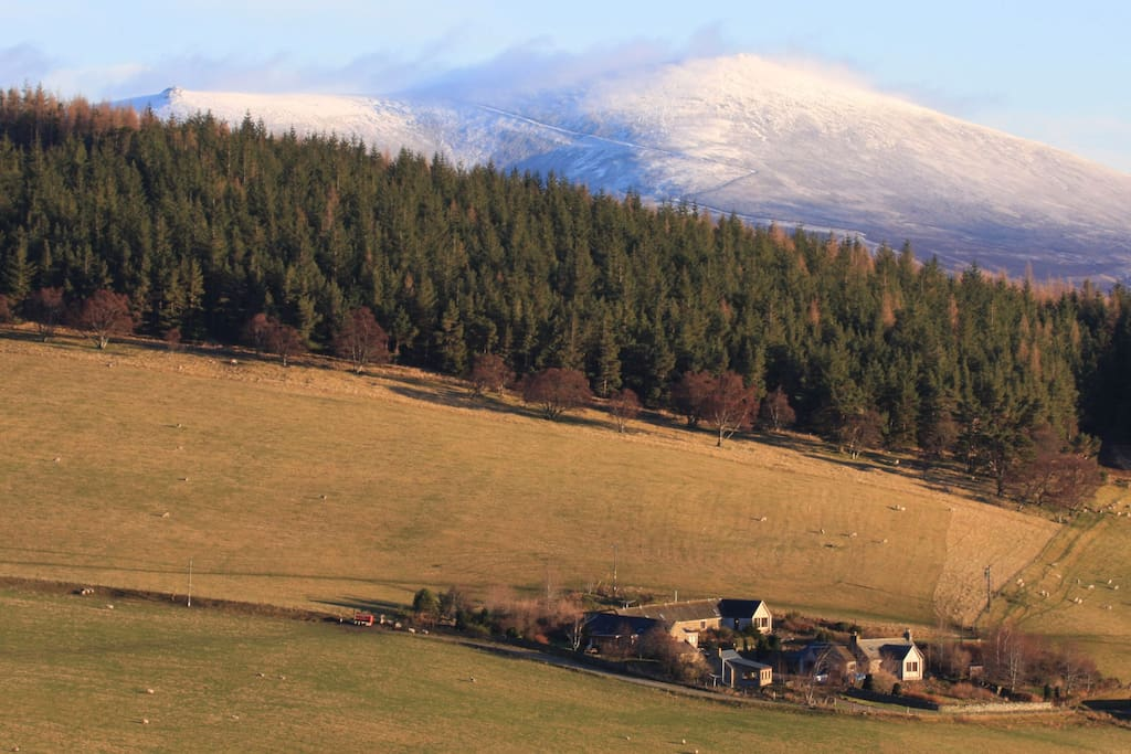 The Mill is located in a secluded glen in the north eastern Cairngorms National Park