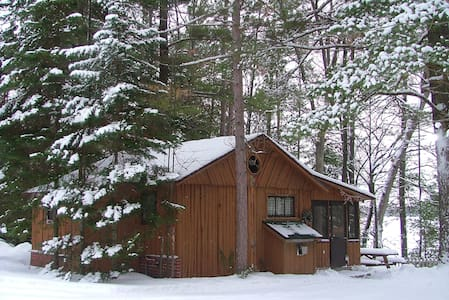 4) SNOW + LogCabin + HOT TUB + Fireplace = L O V E - Traverse City