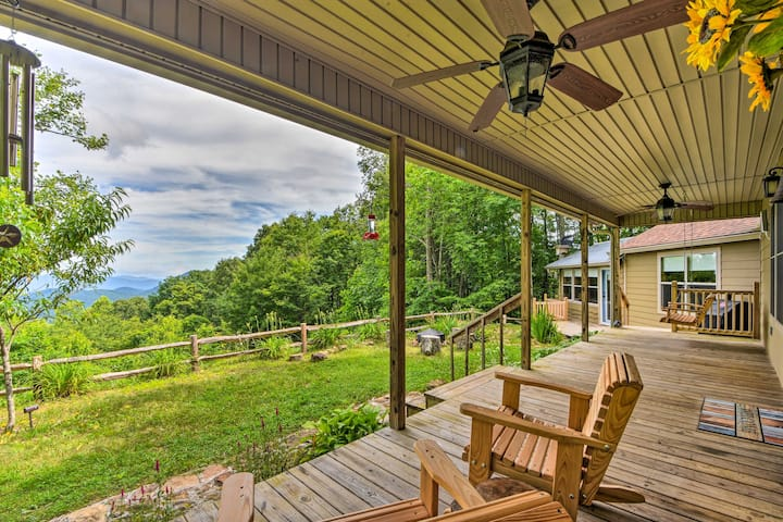 NEW! Peaceful Mountain Hideaway on 6 Scenic Acres!