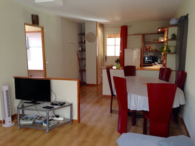 Nice and quiet 1 bedroom flat near Nice, with Spa