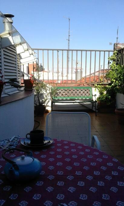 vista de los tejados de Madrid desde una de las terrazas