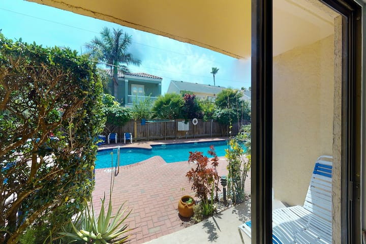 New listing! Waterfront condo w/ a shared pool & fireplace - close to the beach!