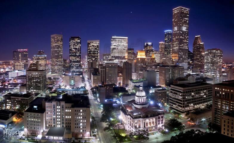 1.B) Hostel 1mi from Downtown & Metrorail to Rodeo - Houston