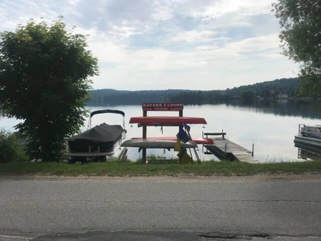 Vous aurez accès au Kayak gratuitement