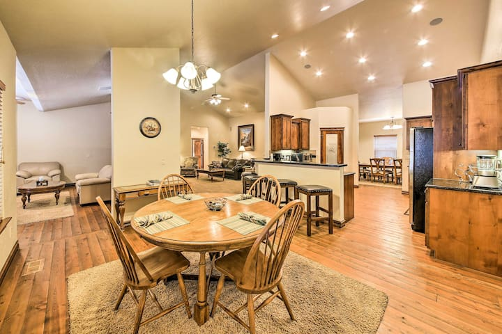 This spacious home offers 3,600 square feet of living space and accommodations for 8.