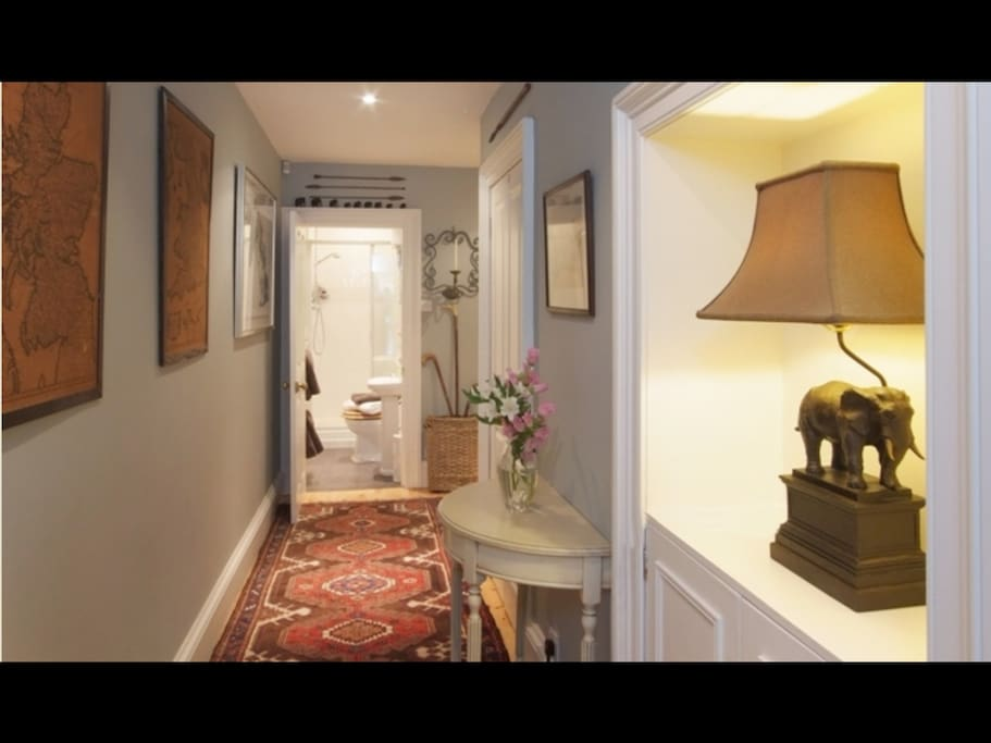 Your private hallway which leads to your room.
