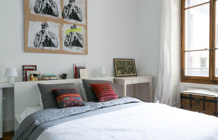 Beautiful & Spacious sunny flat in GVA center - Genebra - Apartamento