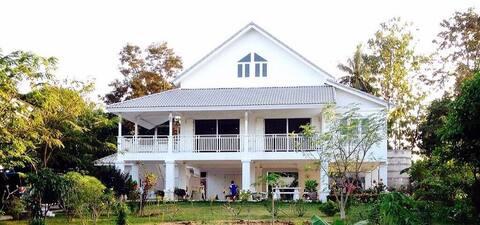 White vintage house