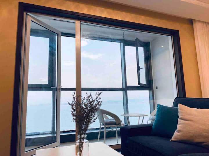 【不言民宿-超高层】刘公岛/市中心/北欧风/一居/公寓