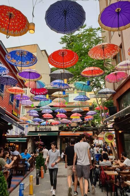 Street of Umbrellas in Kadıkoy