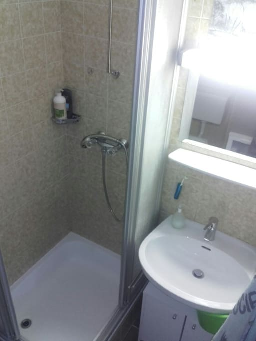 Bathroom: Sink, Shower