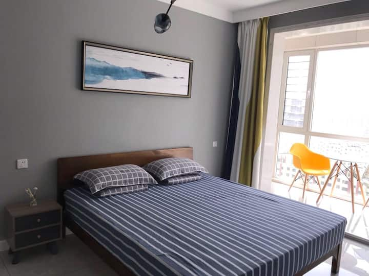【加勒比海景公寓】您住的房子真的能看到海景吗?鲅鱼圈山海广场附近北欧风格无敌海景房