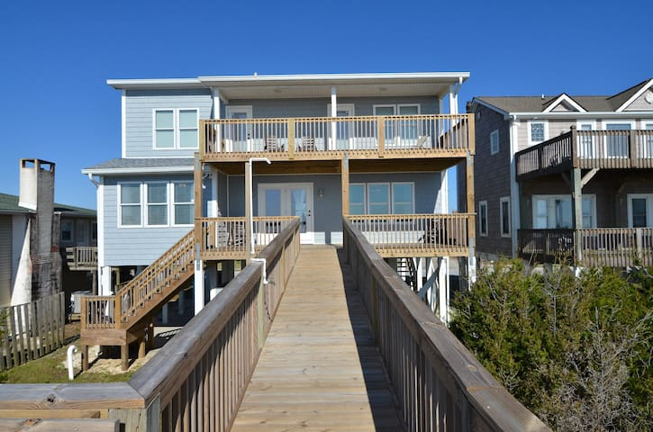 Enjoy the sounds of the Atlantic from this Beach Front 4 bed/2.5 bath Home