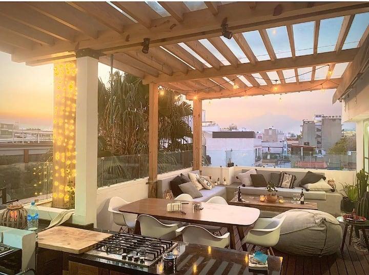 Hermoso Penthouse  con una gran terraza