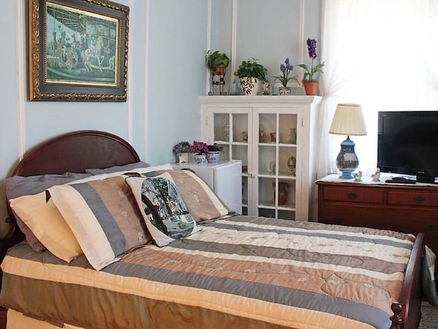 Double room-Private Bathroom-Standard-Garden View-Blue Room