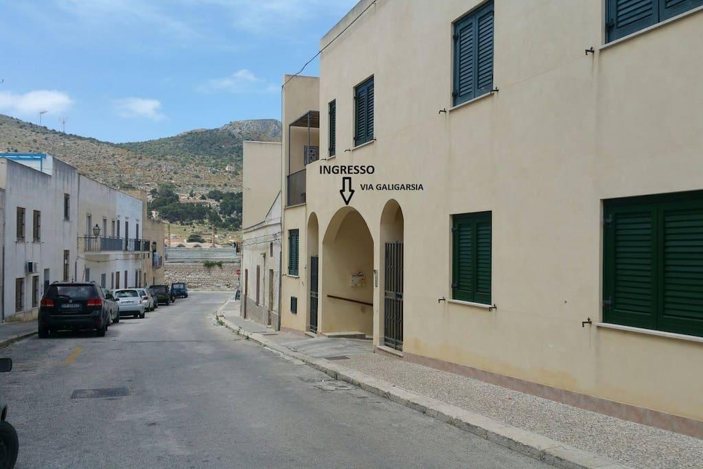 Arco di accesso via Galigarsia
