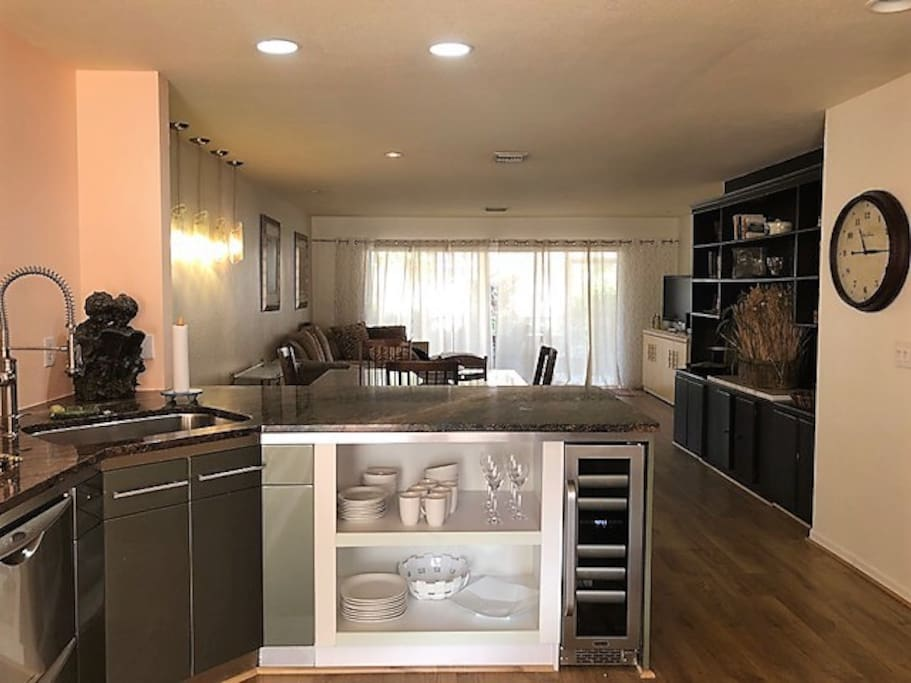 View from Kitchen to Living Area