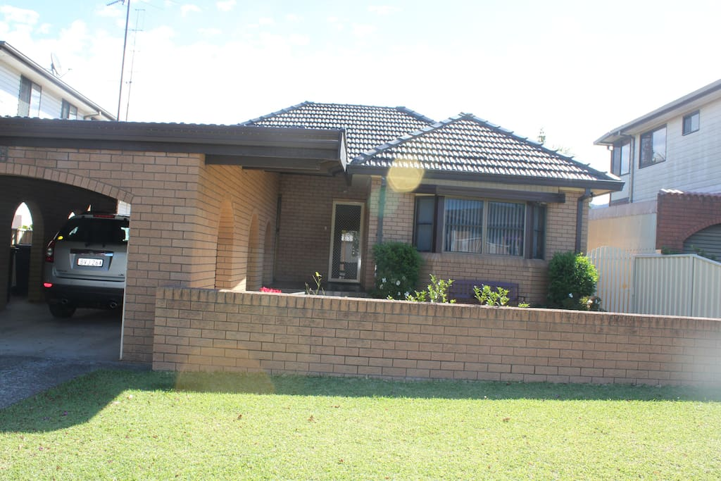 Front of house, oversized carport and plenty of free street parking. Easy walk to/from Towradgi train station.